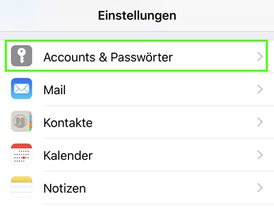 iphone mail account hinzufügen