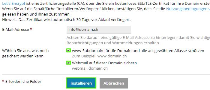 Wie kann ich Let\'s Encrypt (Free SSL) verwenden? - kreativmedia.ch
